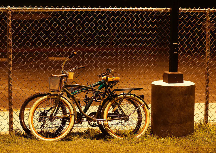 Locked In Love Male Bike Female Bike Metaphors For Lov Metaphors For Ying Yang Night Bikes Night Photography Bicycles Bike Cycling Male Female Night Bike