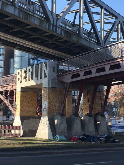 Bridge - Man Made Structure Berlin Cold Sleeping Outside Homeless