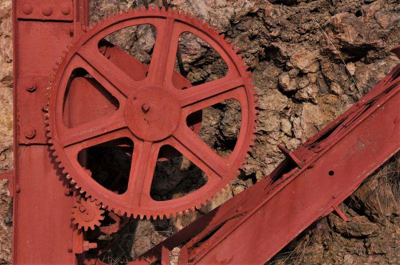 Embalse De Cueva Foradada Mechanic Crane - Construction Machinery Day España Man Made Object No People Red Rusty