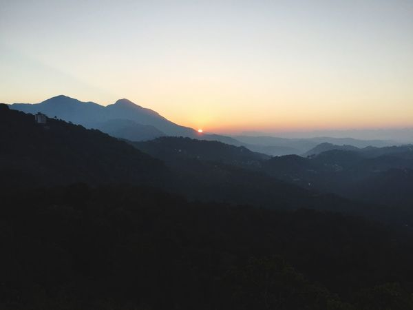 Indian Sunrise Mountain Nature Sunset Mountain Range Beauty In Nature Tranquil Scene Silhouette Landscape Clear Sky Tranquility No People Scenics Adventure Outdoors Sky Day