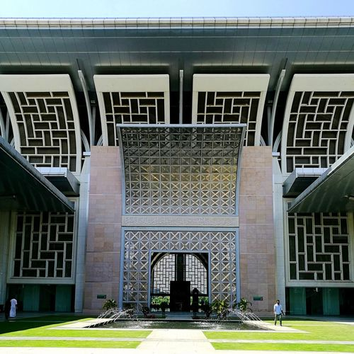 Architecture Built Structure Building Exterior Sport Day Outdoors No People HuaweiP9 Architecture Mosques Putrajaya Mosque