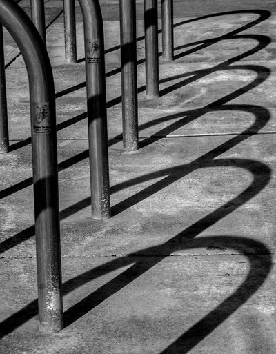 Empty Bicycle Rack On Footpath