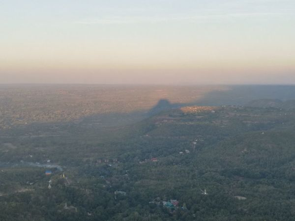 The shadow of Mount PoPa. Check This Out Hello World Have A Nice Day♥ Rise And Shine Relaxing Traveling