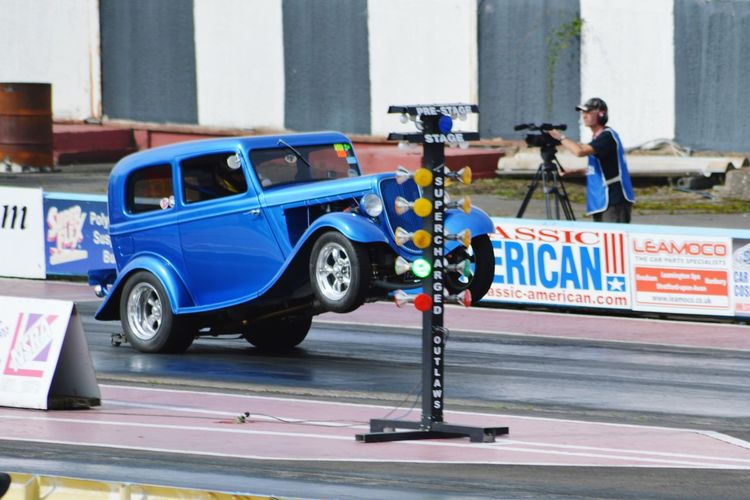 Classic Car Dragracing HotRods Old Car Junkie Car Photography Car Porn Wheelie Capturing Movement Ford Ford Anglia
