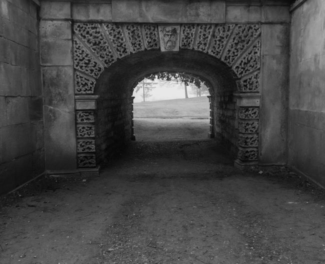Croome Fog Mist Arch The Past Architecture History No People Old Day The Way Forward Tunnel Arched Black And White