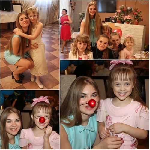 День рождения у дедули) собрался весь бабский батальон:) сестры праздник девчули деньрождения красотки