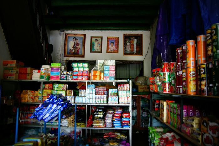 Laos Shop Luangprabang Mom And Pop Store Convenient Store Colorful Street Street Life