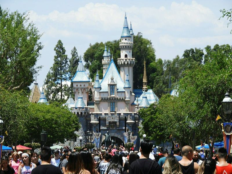2017 USA Trip America California CA Anaheim Disneyland Close-up Outdoors Day Live For The Story Travel Destinations Travel Castle Crowd Sky Summer