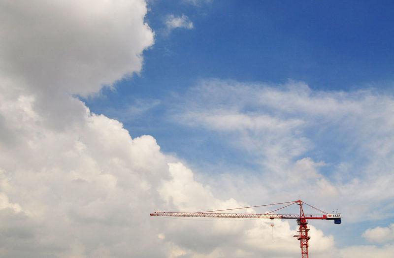 crane Cloud - Sky Crane - Construction Machinery No People Outdoors Sky