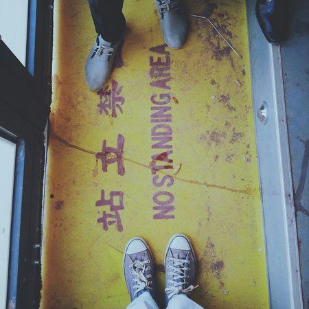 Walk This Way Bus Station Looking Down Fwis EyeEm Best Shots Door Yellowandblue