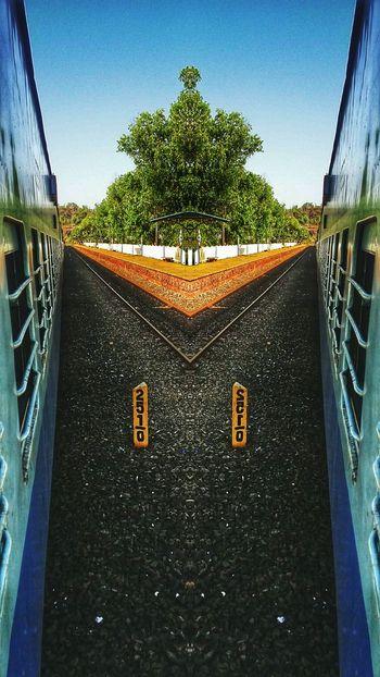 Railway Track Train Tracks Hdrscape Mirrored Mirroreffect India Goa Konkanrailway