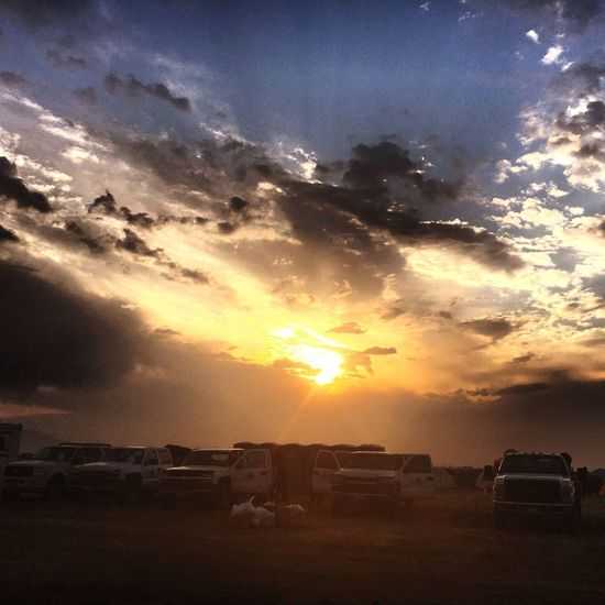 Wildlandfirefighter Adventure Firefighter Togetherness Sunset Sun Car Land Vehicle Sky Transportation Mode Of Transport Sunlight Sunbeam Cloud - Sky No People Stationary Nature Scenics Outdoors Beauty In Nature Day Real People