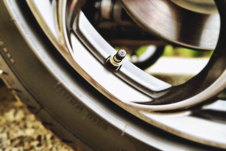 Cropped Image Of Vehicle Wheel