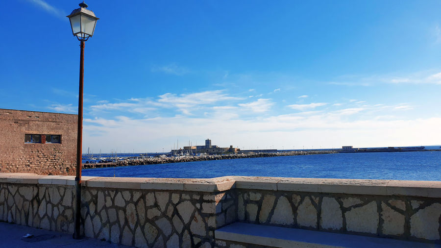 Panoramica view fron the pier of trapani