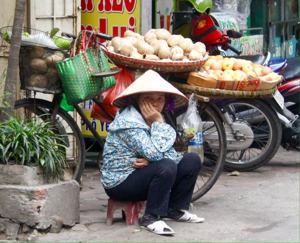 Side Of The Road Making A Living Hanoi, Vietnam Vegetables Selling Fruit Hanoifood Gotta Be An Easier Way To Make A Living Amateur Photography Truc Bach, Hanoi Ba Dinh, Vietnam Taking A Break Making A Quid Street Photography Up Close Street Photography