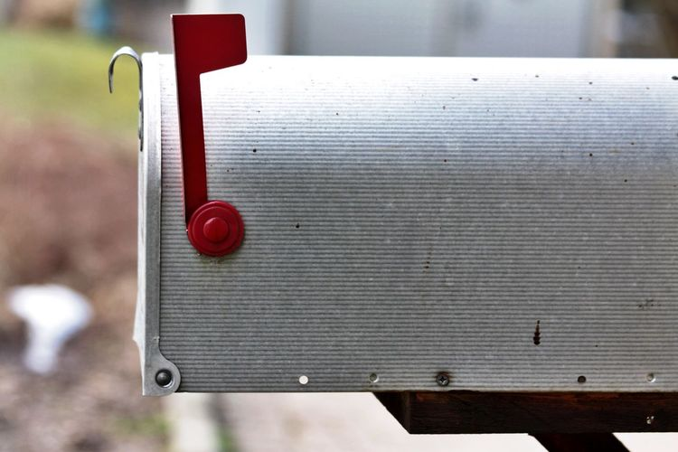 Close-up of mailbox