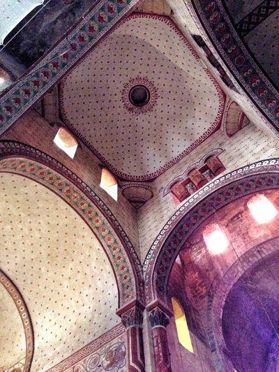 Eglise Saint Austremoine Issoire Auvergne France Colorful