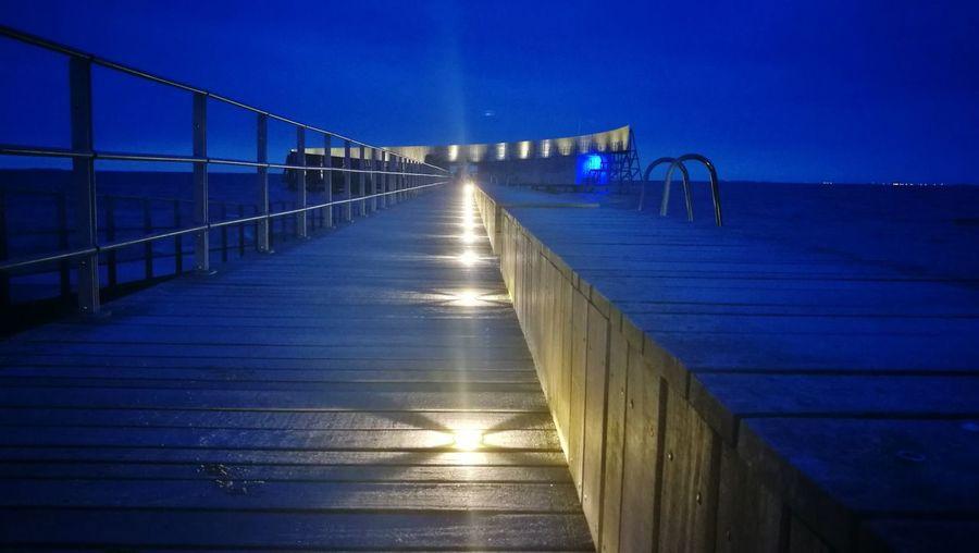 Bridge - Man Made Structure Night Water Outdoors Night Shot Night Lights Summer Life  Night Time Illuminated Beach