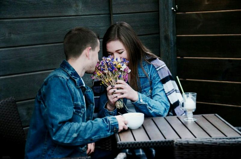 Two People Love Relaxation Coffee - Drink Romance First Eyeem Photo