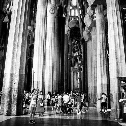 People Sagradafamilia Abstractdesigns Barcelona Barcelone Ohbarcelona Awesomedesign Blackandwhite Monochrome F2f Follow2follow Ifollowback Followme