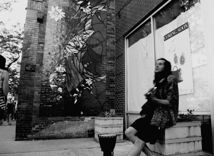 Short North Blackandwhite Streetphotography Guy Columbus, Ohio