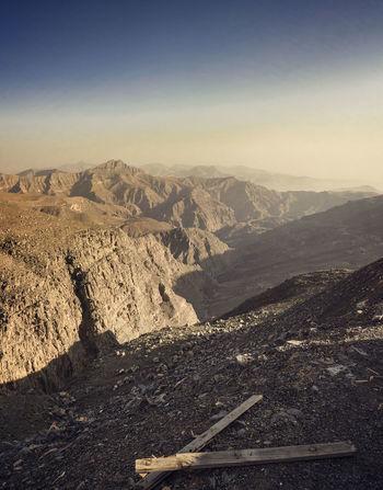 Ras Al Khaima Mountain Range Landscape Vertical Rock - Object Landscape Outdoors Mountain No People Nature Scenics Day Sky
