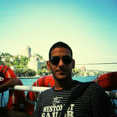 Self Portrait Portrait Bousphore On A Boat