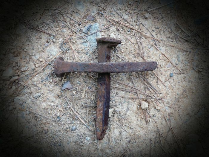 That Old Rugged Cross Cross Railroad Nail Christs Passion Christ JesusSaves No People Metal Rusty Day Close-up Outdoors rugged life easter Art Is Everywhere Christopher Kelley Cb Kelley Photography