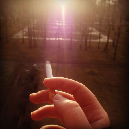 Smoking Cigarette  Give Me Love Iloveyou ?