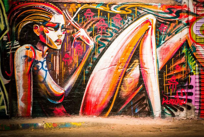 Graffiti and street artwork in the Leake Street Tunnel, London Colourful Graffiti Leake St Leake Street Tunnel London Street Artist Art Color Colorful Day Graffiti & Streetart Graffiti Art Graffiti Wall Graffitiporn Graffitiworldwide Graffitti Modern Art Multi Colored Street Art Tunnel