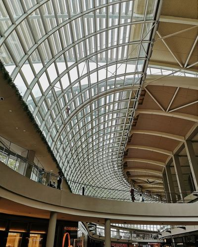 Low angle view of ceiling of shopping mall