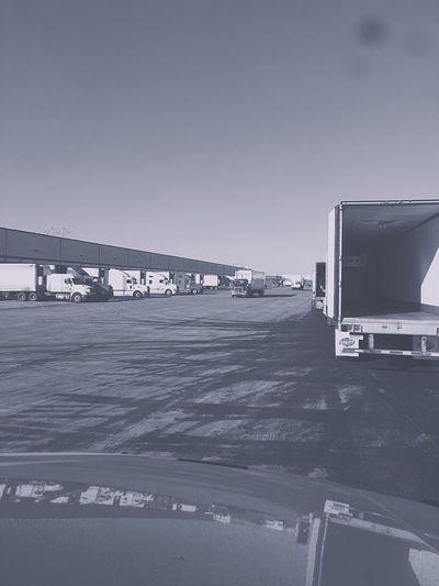 Truck yard Truck Truckerslife Truckdriver Truckdriving Lines Blackandwhite Black & White Early Morning Nice Day