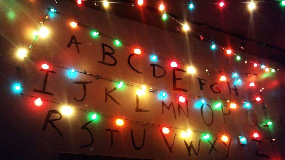 Stranger Things Stranger Things Christmas Lights Alphabet Bar Reno NV Reno Wall Gambling Bright Neon Illuminated Red Night No People