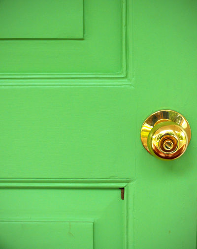 Door Entrance Green Color Closed Protection Doorknob Knob Safety Security No People Backgrounds Wood - Material Full Frame Close-up Metal Pattern Day Indoors  Handle Turquoise Colored Exterior Building Exterior