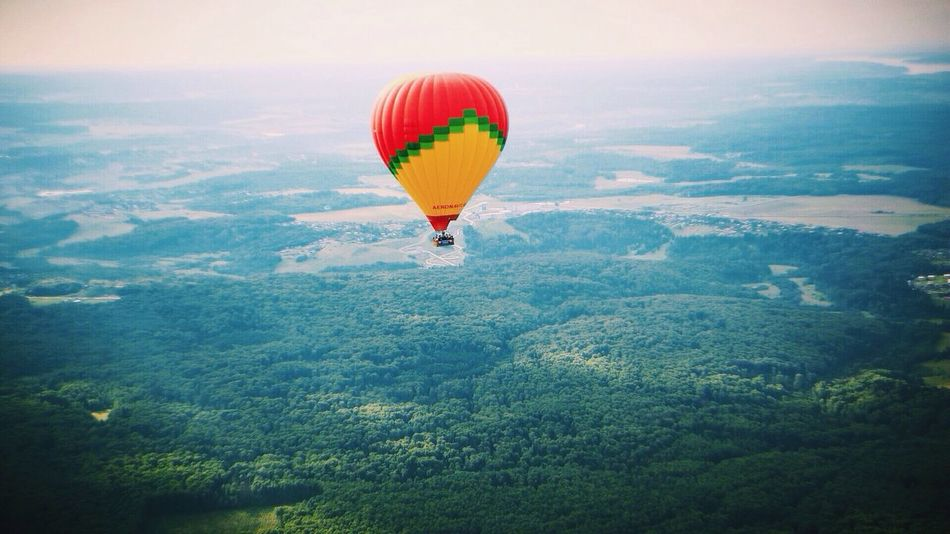 Multi Colored Mid-air Flying Hot Air Balloon Colorful Air Vehicle Mountain Sky No People Cloud - Sky Scenics Welcometorussia View Russia Mothercare