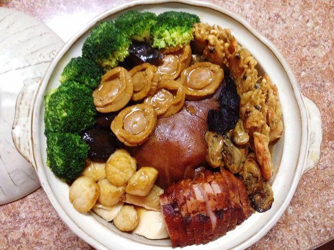 盆菜 Chinese Food Chineserestaurant Chinesedishes Love Happychinesenewyear Goodyear Dinner Time Great Atmosphere