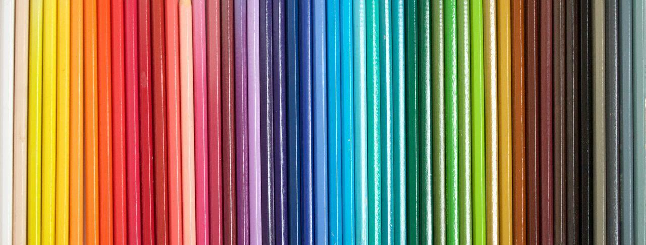 Full frame shot of color pencils