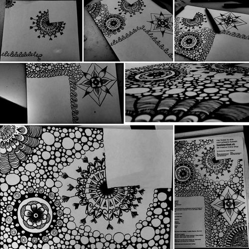 Selfmaide Zentangle Drawing Working