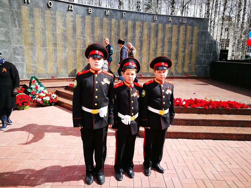 9 May 2017 Victory Day Russia Boys Monument Cadets Outdoors Looking At Camera Portrait People Young Adult Day Patriotism