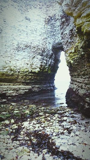 Awesomee arch at scarborough! Beach Arch Cliffs Sand Scenery