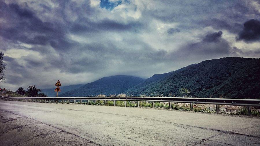 проба пера On The Road Mountains Sky Russia