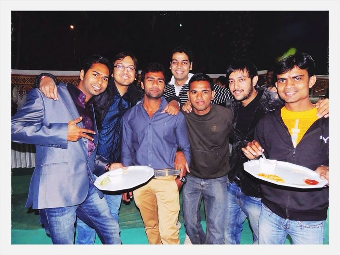With colleagues at Party