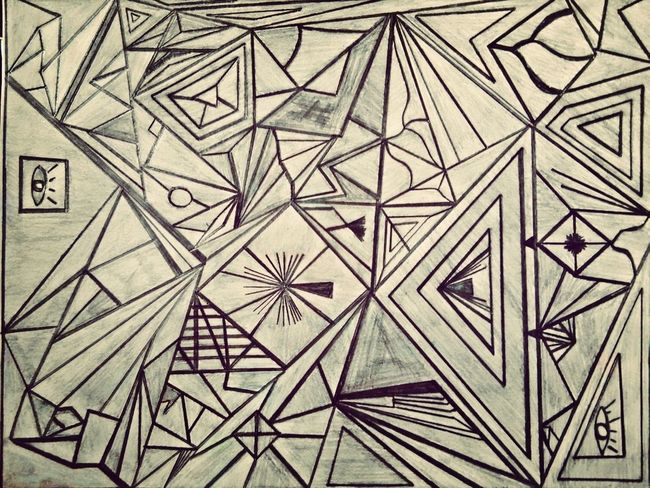 Missing Thoughts My Own Art Triangle Abstract Drawing
