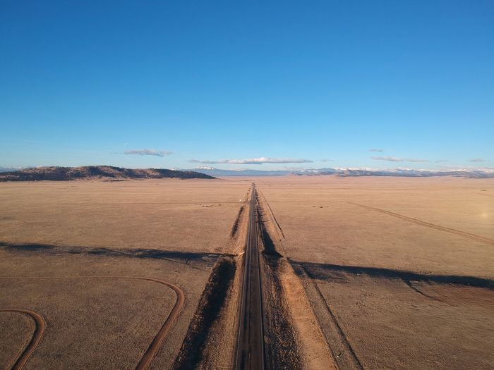 X marks the spot Landscape No People Day Desert The Way Forward Transportation Outdoors Mountain Beauty In Nature Sky Clear Sky Scenics Nature Arid Climate Blue