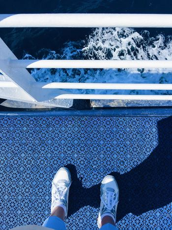 Girl is standing at the edge of a ship deck looking at the sea Croatia Croatian Holiday Holiday Travel Vacations Split Korčula Hvar Ferry Ferry Boats Ship Boat Island Deck Summer Europe Europe Trip Sea Loneliness Loneliness And Sadness Thinking Psychology At The Edge Of Jumping Overboard