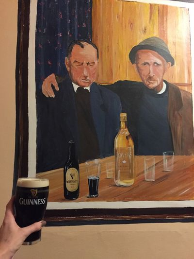 Guinness in Ireland - Irish pub Guinness Ireland Ireland🍀 Day Eyeglasses  Guinness Time Gurns Bar Indoors  Ireland Lovers Ireland_gram Irelandinspires Leitrim Mature Adult Mature Men Men People Real People Smiling Two People