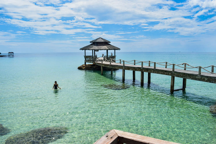 Clear Sky Freedom Heaven Positive Relaxing Beauty In Nature Blue Day Horizon Over Water Nature Ocean One Person Outdoors Paradise People Scenics Sea Sea And Sky Sky Summer Tranquil Scene Tranquility Vacation Vibe Water Be. Ready.