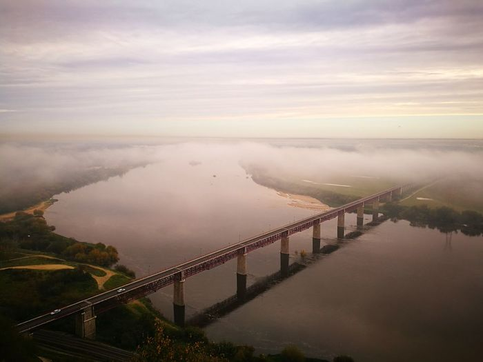Bridge - Man Made Structure Fog Scenics Beauty In Nature Nature Colorful Portugal Is Beautiful Nature Water Portugal Landscape Tree HuaweiP9