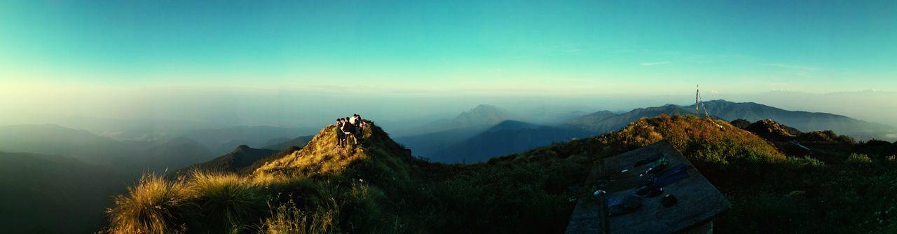 Heaven is myth. Nepal is real. Hiking Treking Panorama Nepal Travel Scenics Mountain Hills Sunrise Outdoors Morning Travel Beauty Nature Sky Foggy Morning EyeEm Selects Mountain Fog Tree Scenics Mountain Range Outdoors No People Travel Destinations EyeEmNewHere