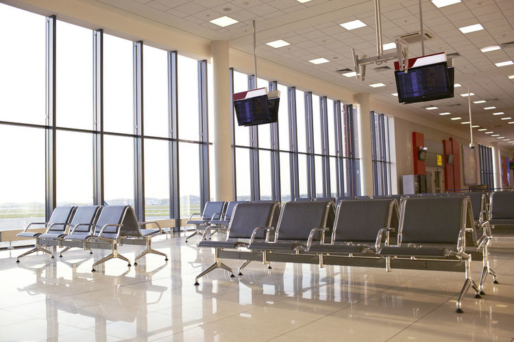 Airport Bench Business Chairs Design Hall Indoor Indoors  Inside Interior Light Lounge Modern Modern No People Transport Tv Windows